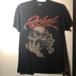 Diesel USA men's black graphic t shirt